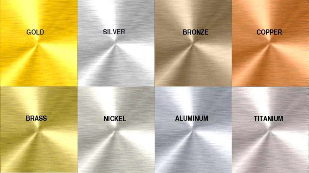 varietà di metalli