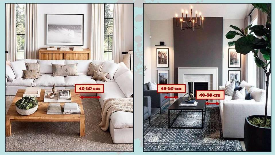 distanza tra tavolino e divano