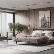camera da letto lussuosa